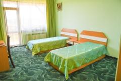 Две отделни легла в зелено